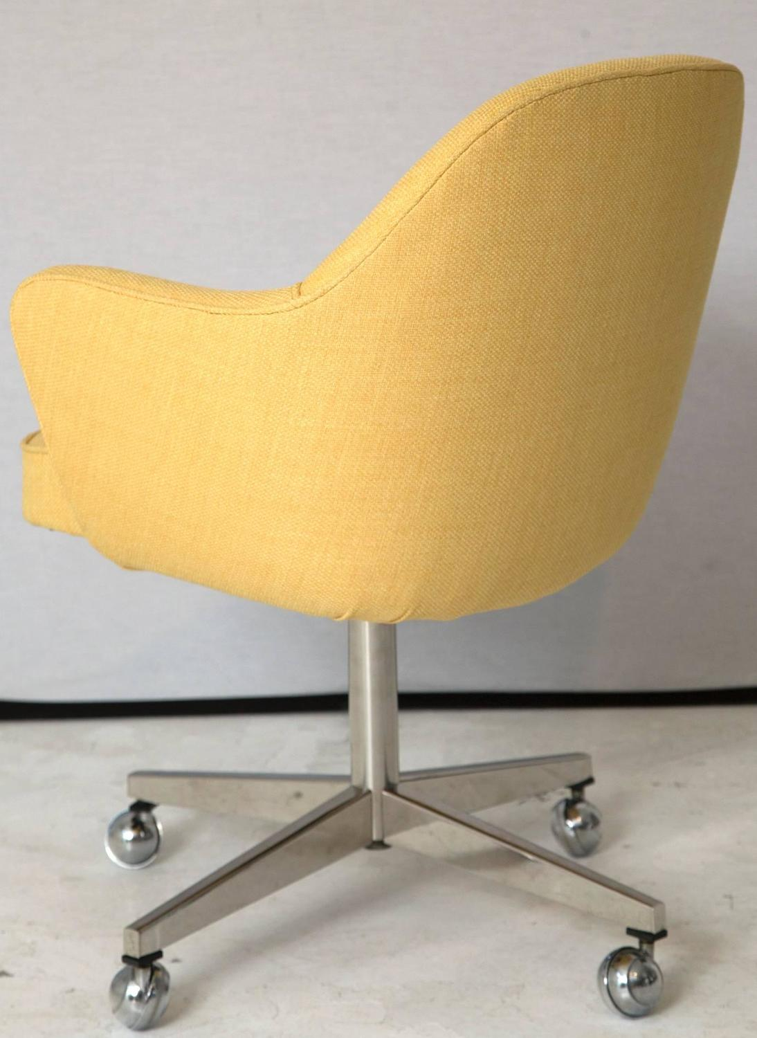 yellow office chair swing johor bahru knoll desk in microfiber for sale at 1stdibs