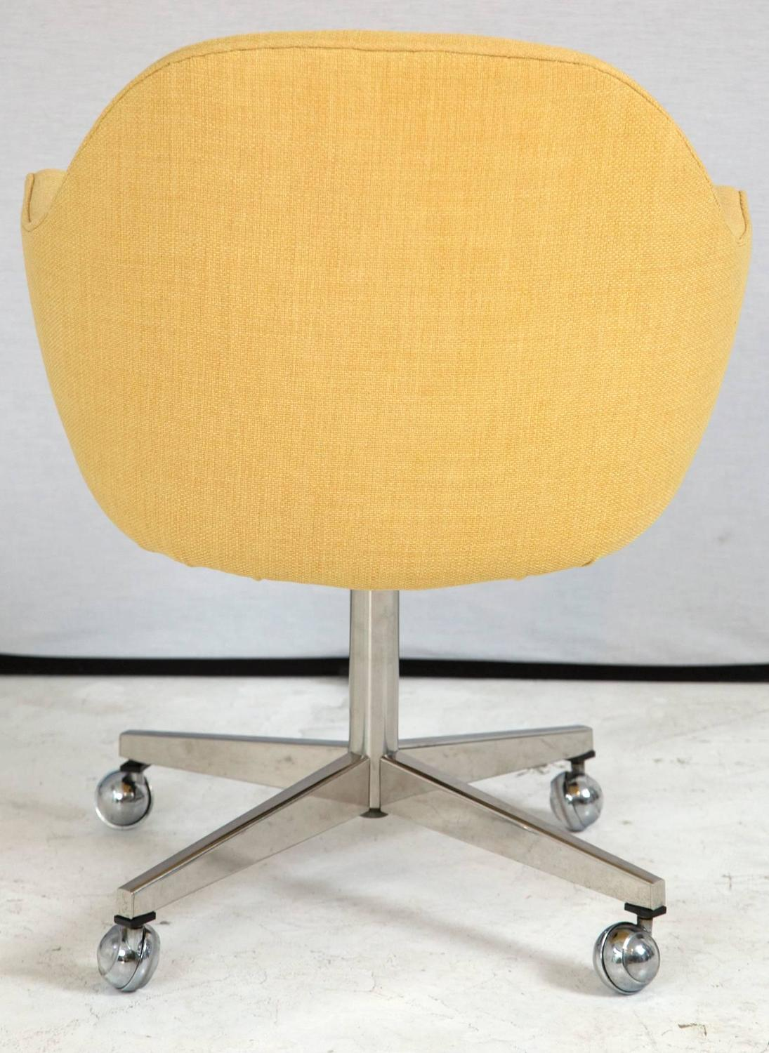 yellow office chair power lift chairs reviews knoll desk in microfiber for sale at 1stdibs