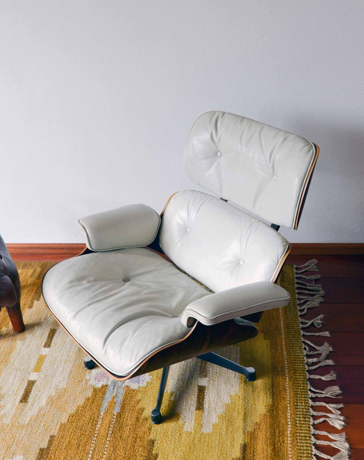 white leather chairs for sale evacuation model 300h mk4 lounge chair charles eames at 1stdibs