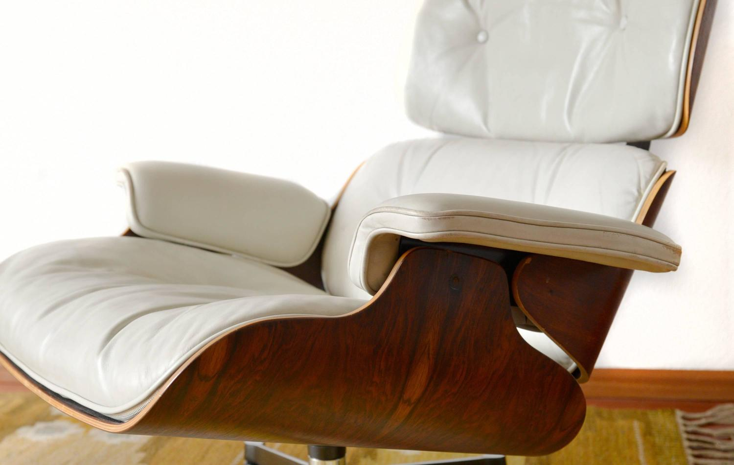 white leather chairs for sale cabelas camping lounge chair charles eames at 1stdibs