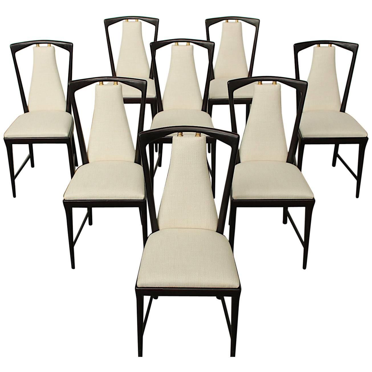 Copper Dining Chairs Set Of Eight Mahogany Osvaldo Borsani Dining Chairs