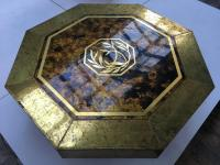 Stunning 1970s 'Mastercraft', Acid Etched Brass Table by ...