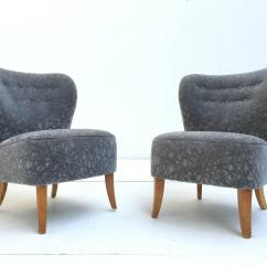 Grey Velvet Slipper Chair Pride Heavy Duty Lift Chairs Pair Of 1950s Tijsseling In Geometric