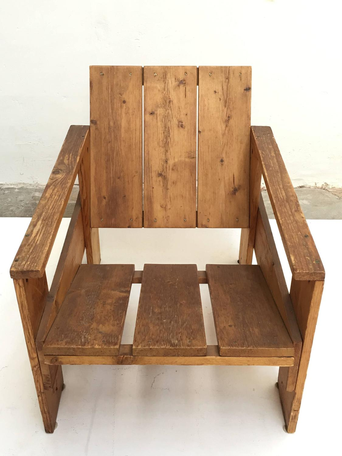 gerrit rietveld crate chair black metal folding chairs 1950s by unknown manufacturer
