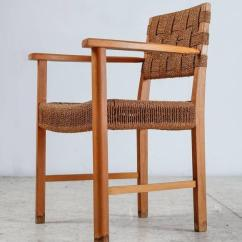 Seagrass Arm Chair Sears Patio Covers Beech And Woven Armchair Denmark 1940s For Sale At 1stdibs Scandinavian Modern