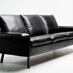 Black Leather Sofa Quick Delivery Ikea Bed Arne Vodder For Sale At 1stdibs