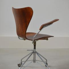 Z Gallerie Office Chair Indoor Cushions Canada Rare Arne Jacobsen Rosewood Swivel Desk With Arms At