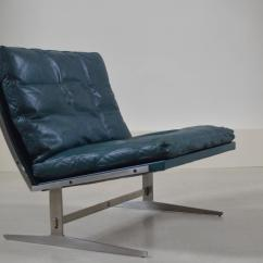 Turquoise Lounge Chair Lightweight Transport Wheelchair Aluminum Rare Colored Bo561 By Kastholm