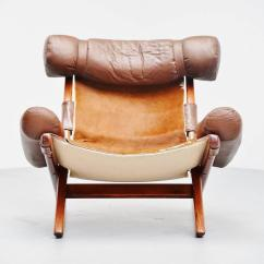 Weird Shaped Chairs Black Farmhouse Unusual Lounge Chair With Cow Skin Seat Brazil 1970 For