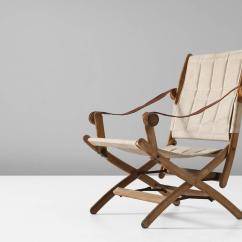 Safari High Chair Big Overstuffed With Ottoman Scandinavian Folding In Beech And Canvas