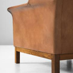 Buffalo Leather Chair Ikea Ektorp Review Arne Norell High Back In Patinated Cognac