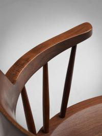 George Nakashima Rare Set of Eight 'Captain' Chairs For