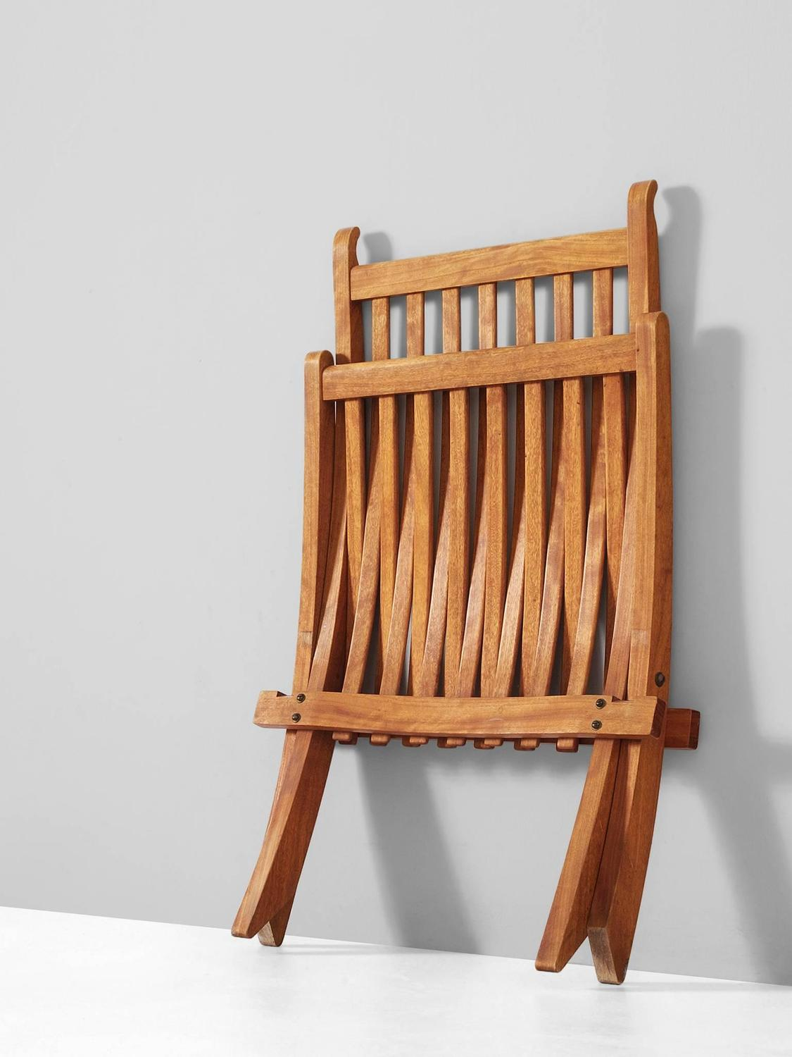 Hans Wegner Folding Chair Hans Wegner Rare Folding Chair In Mahogany At 1stdibs