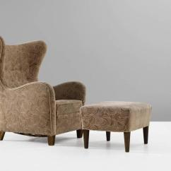 Modern Wingback Chairs For Sale Ikea Reclining Chair Thorald Madsen With Ottoman At 1stdibs