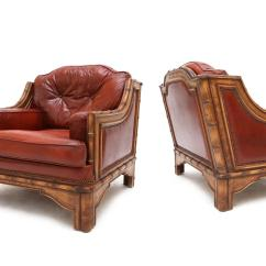 Red Club Chair Round Lounge Outdoor Pair Of Leather Chairs For Sale At 1stdibs