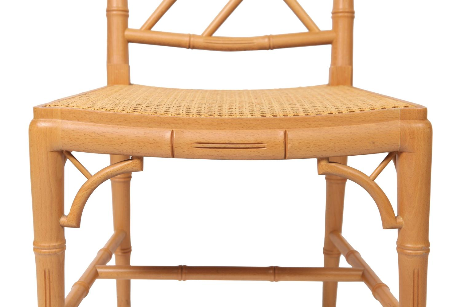 bamboo chairs for sale adirondack amish made hollywood regency at 1stdibs