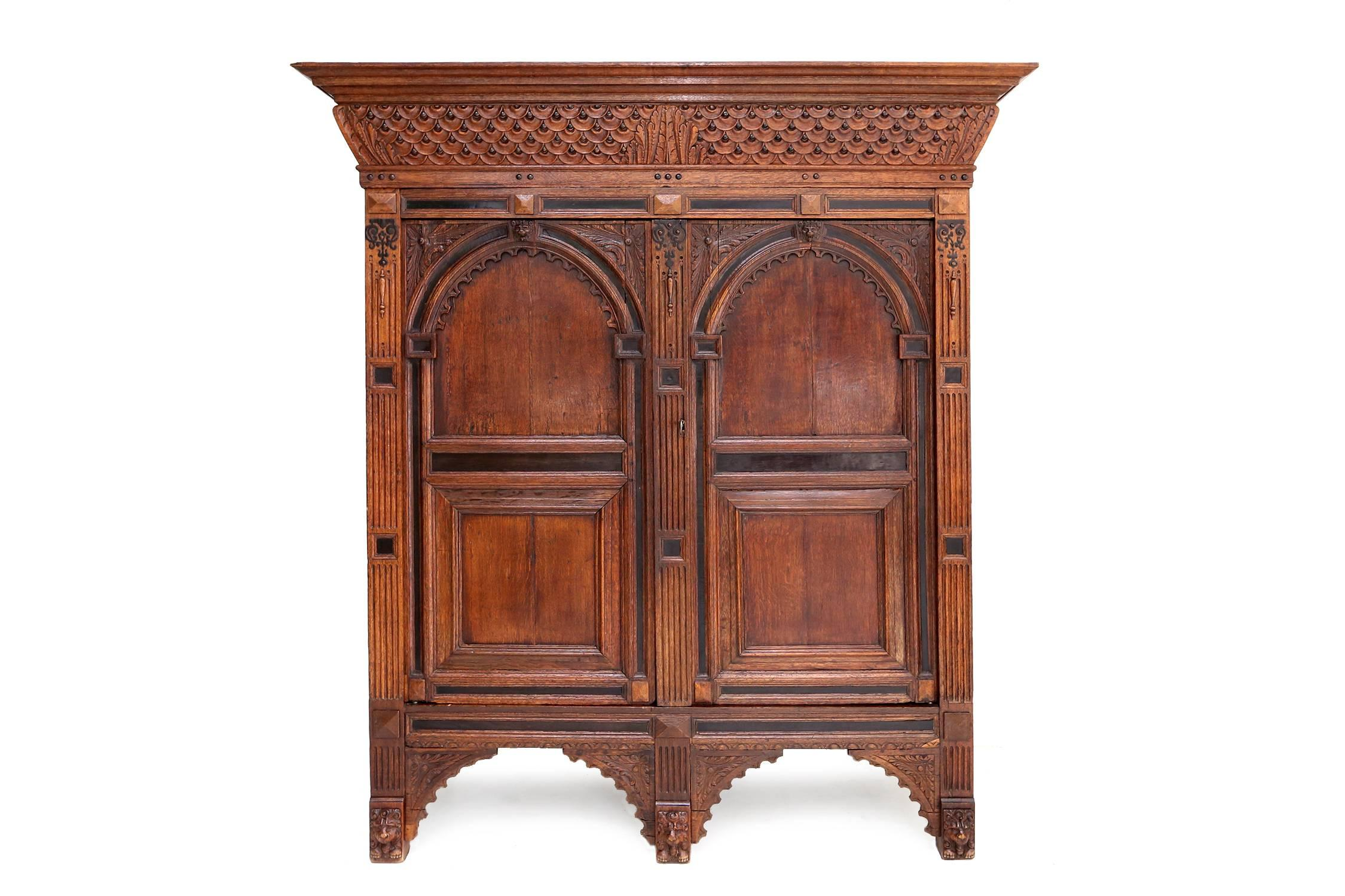 Eclectic antique Dutch Renaissance Cabinet For Sale at 1stdibs