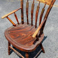 Windsor Back Chairs For Sale Cost To Reupholster A Chair Assembled Set Of Eight 19th Century Grain Painted Arrowback At 1stdibs