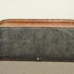 Tufted Leather Sofa With Rolled Arms How To Remove Mold From Henredon Arm English Style Button Brown