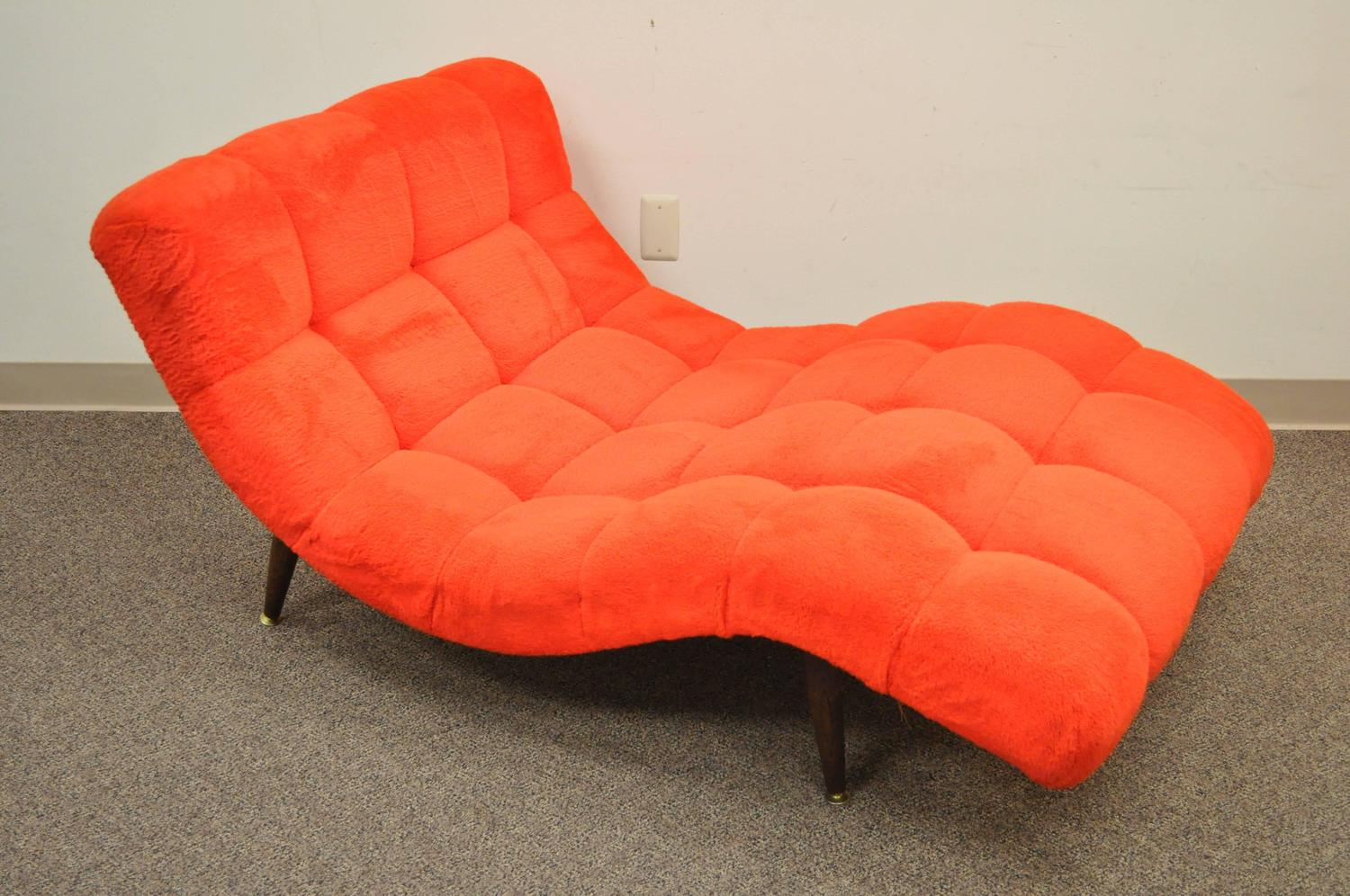 Double Wide Recliner Chair Vintage Mid Century Modern Double Wide Wave Chaise Lounge