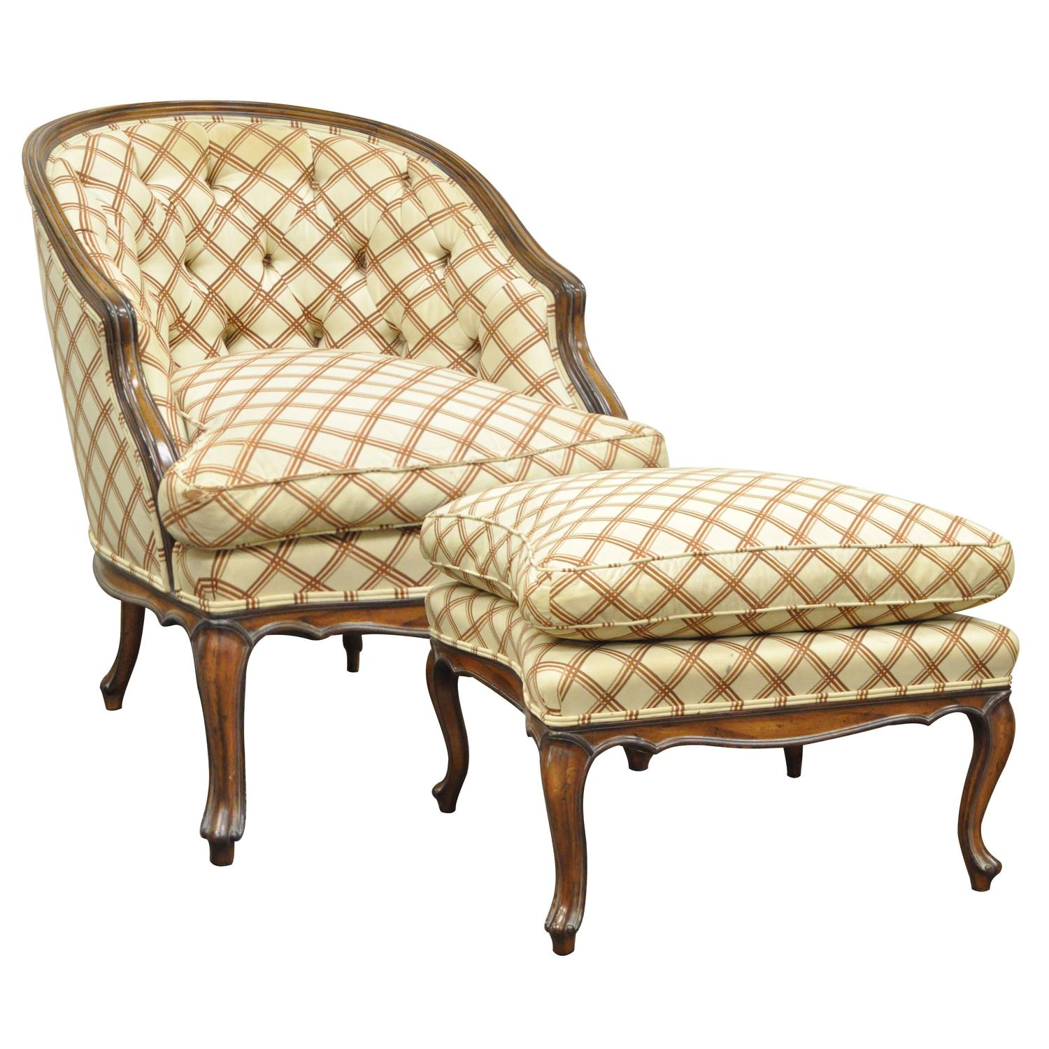 french louis chair creeper that turns into a vintage country xv style barrel back bergere