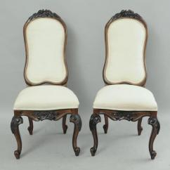 Black Dining Room Chairs With Chrome Legs Slipcovers For Unusual Set Of 8 French Country Baroque Style Upholstered High Back Sale At 1stdibs