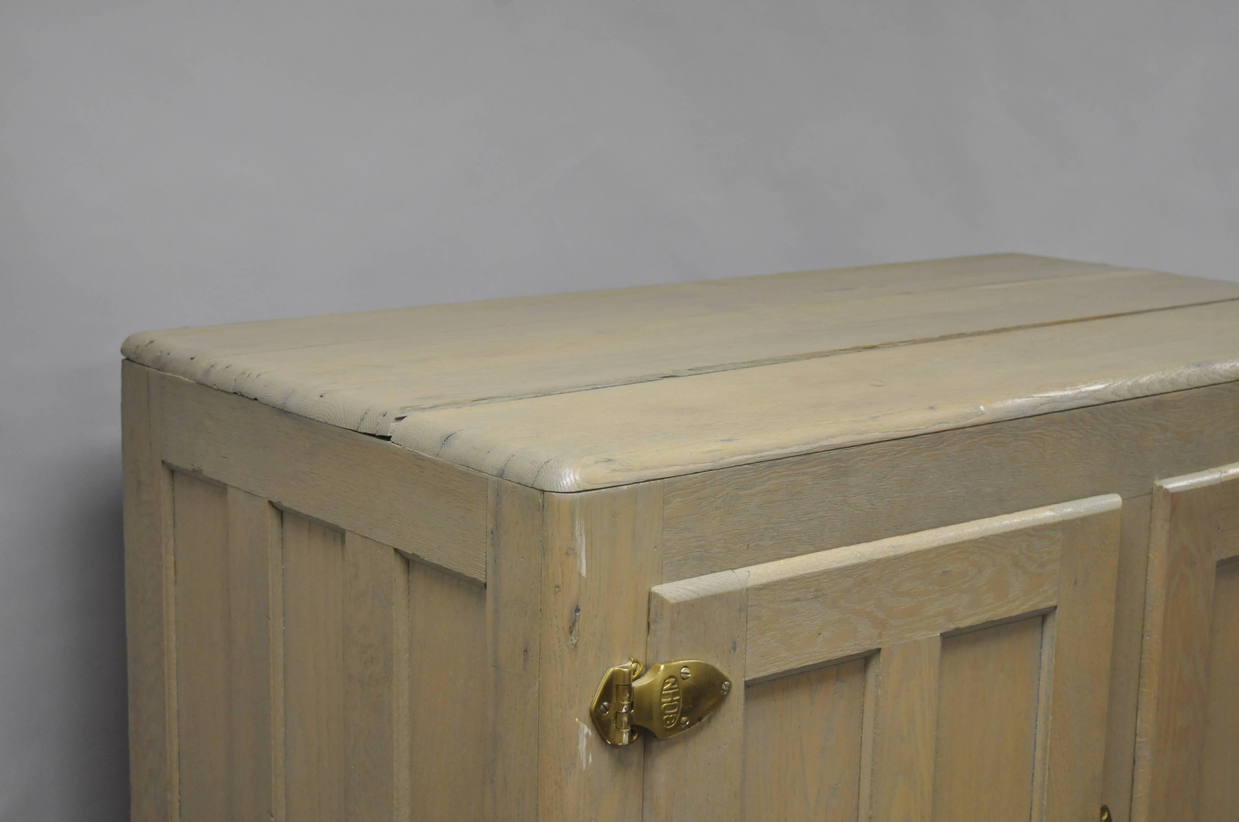 Large Bohn Syphon Refrigerator Five Door Oak Wood Icebox