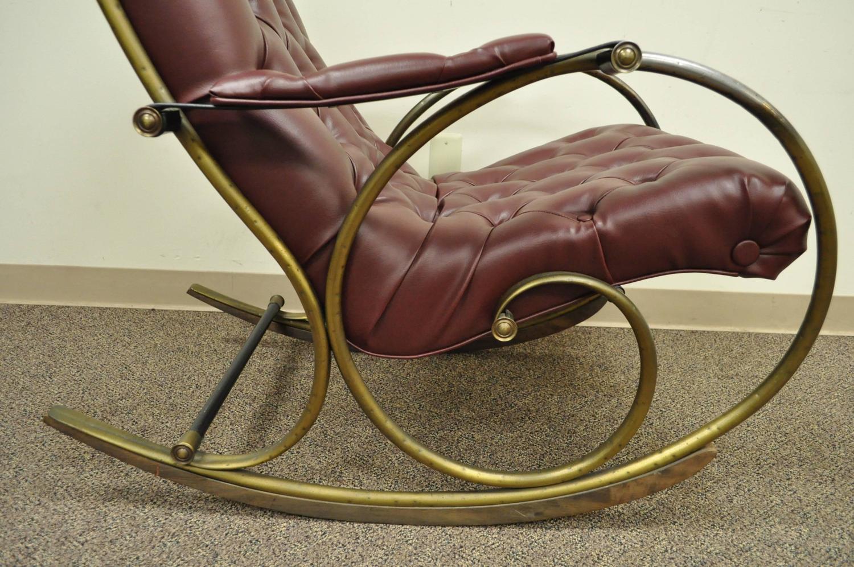mid century rocker chair accent and ottoman canada lee woodard tubular brass rocking or