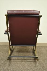 Mid-Century Lee Woodard Tubular Brass Rocking Chair or ...