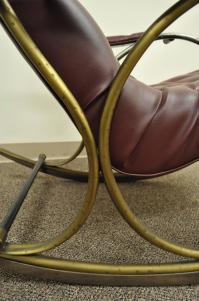 Mid-Century Lee Woodard Tubular Brass Rocking Chair or ...