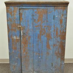 Primitive Kitchen Cabinets Home Depot Backsplash Tile Antique Blue Distress Painted Pa Rustic Jelly ...