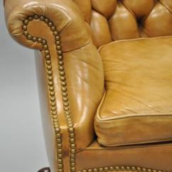Bergere Chair For Sale Wheelchair Uber 20th Century Cabot Wrenn Tan Leather English Chesterfield Office Desk At 1stdibs