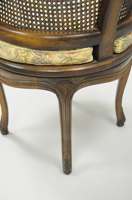 bentwood cane seat chairs wedding chair covers hire hampshire french country louis xv style swivel vanity back boudoir walnut for sale at 1stdibs