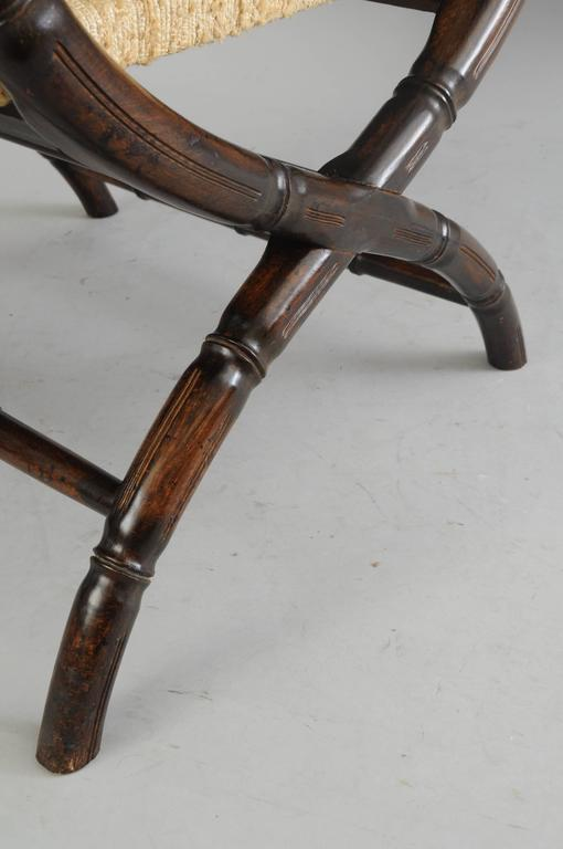 ficks reed chair chairs for desk drexel campaign style faux bamboo safari sling arm hollywood regency sale at 1stdibs