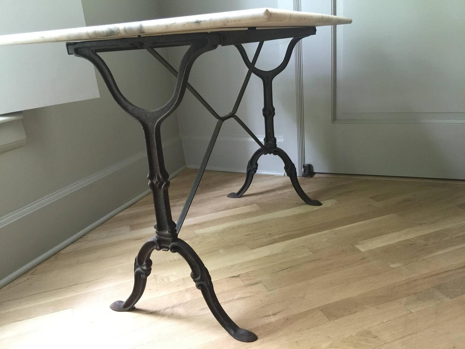 antique french bistro table and chairs deck chair book stand vintage marble at 1stdibs