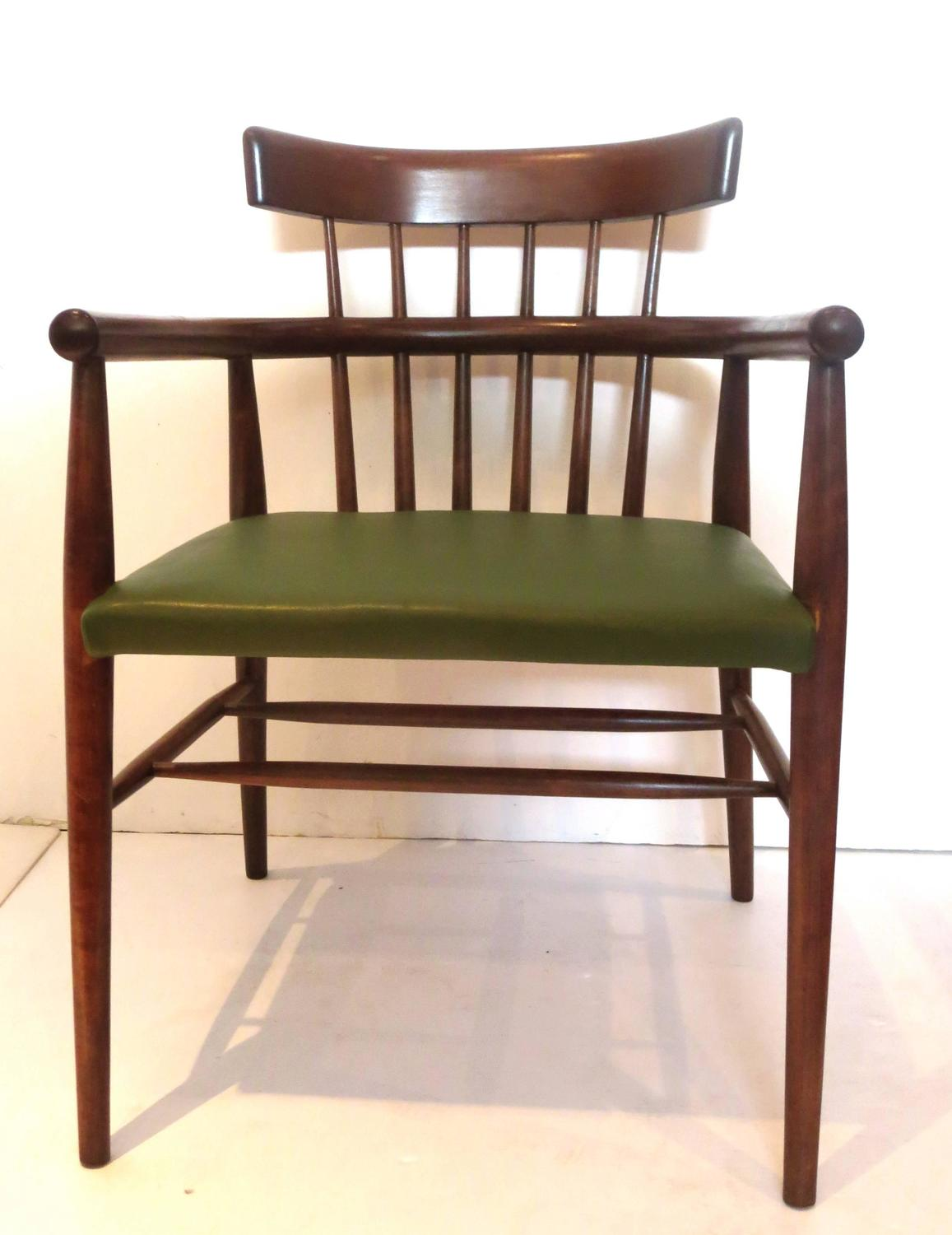 windsor style chairs pool side danish modern spindle back armchair in