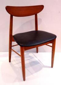Classic Mid-Century Danish Modern Set of Six Curved Back ...