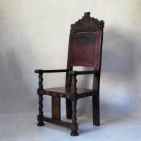 Medieval Style Hall Chairs, France, 19th Century For Sale