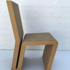 Frank Gehry Cardboard Chair Ivory Lycra Covers Easy Edges Side By For Sale At