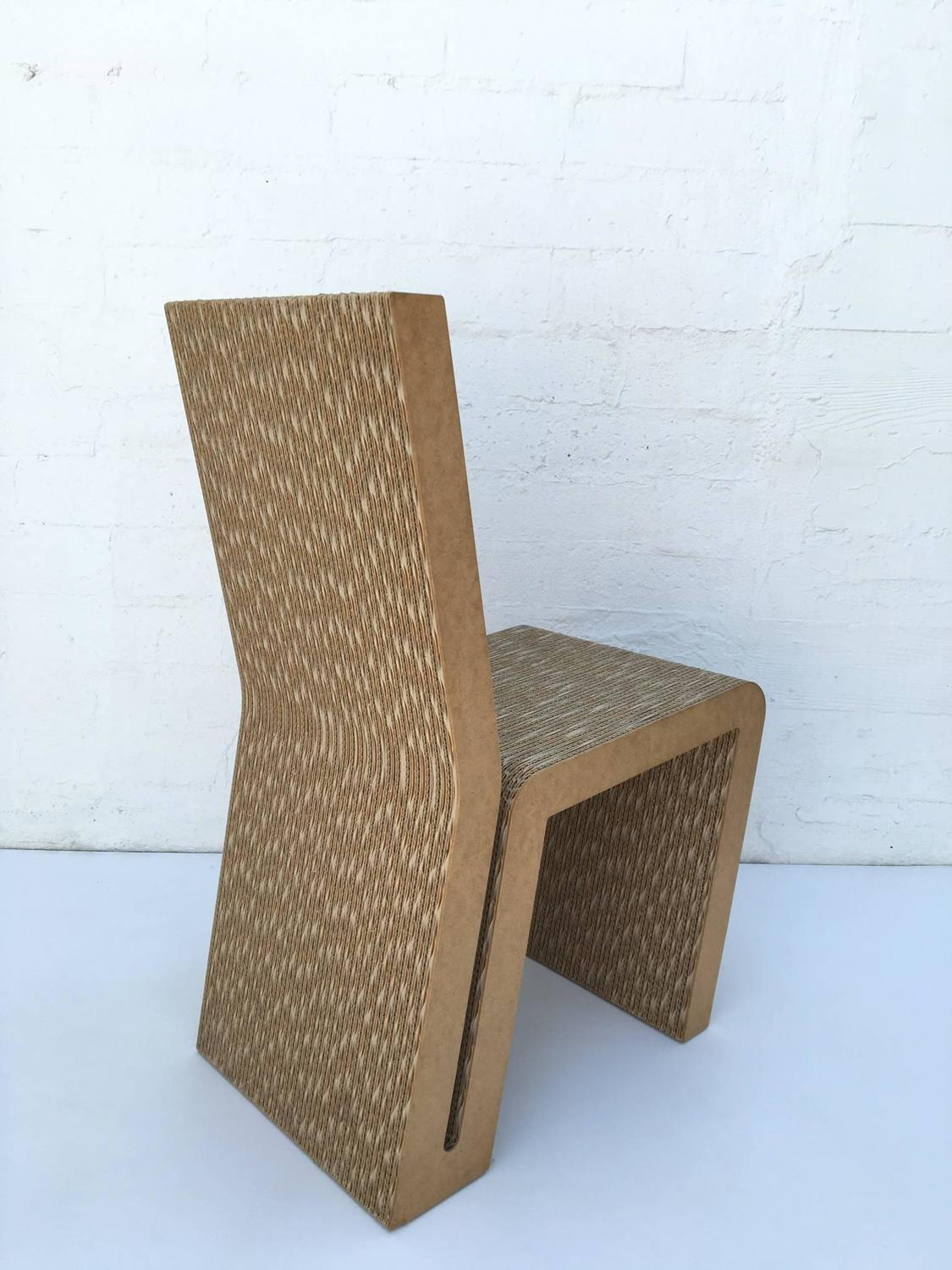 frank gehry cardboard chair chairs that recline easy edges side by for sale at