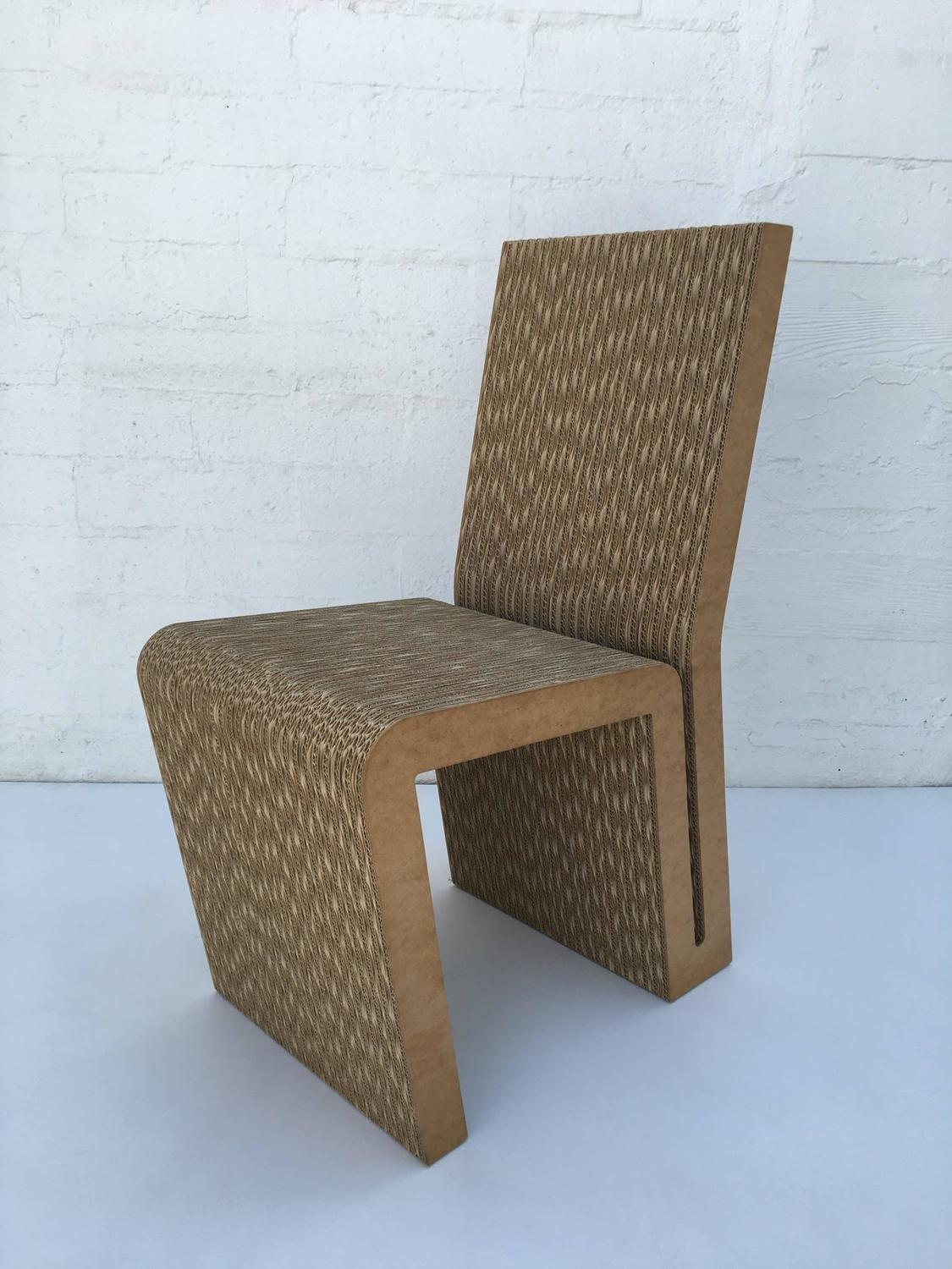 frank gehry cardboard chair living room chairs with ottomans easy edges side by for sale at