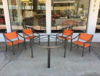 1970s Outdoor Dining Set by Brown Jordan For Sale at 1stdibs