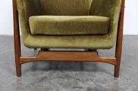 Danish Mid-Century Lounge Chair with Wood Frame at 1stdibs
