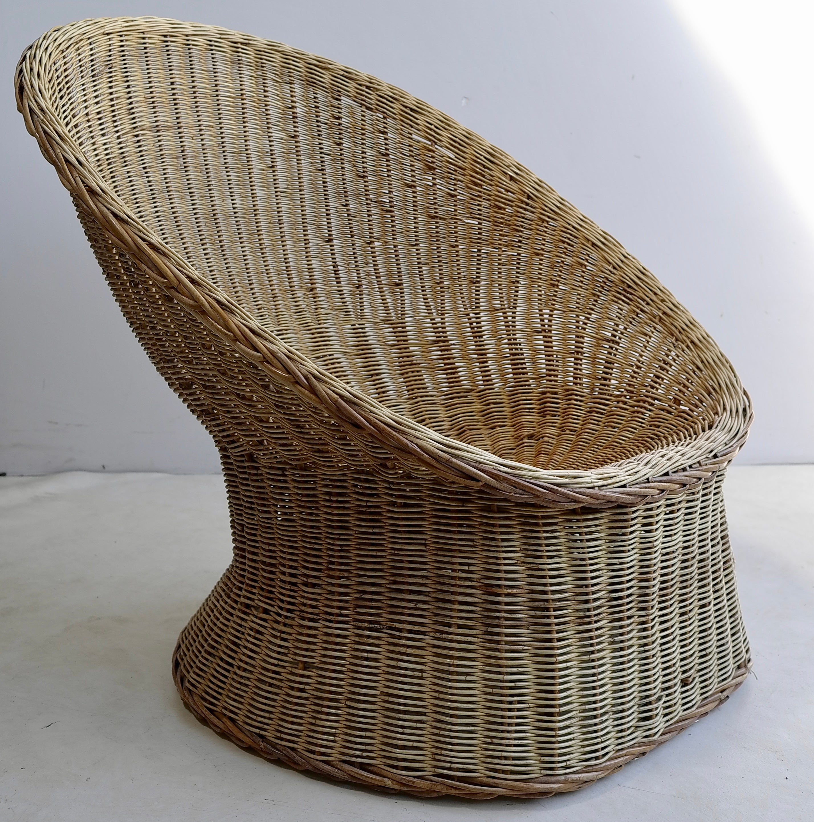 Egg Wicker Chair Rare Wicker Egg Shaped Armchair By Wim Den Boon Holland 1952