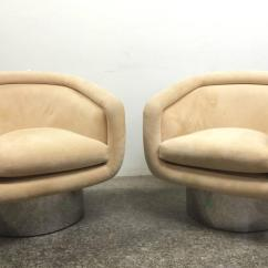Swivel Chair Leons White Wicker Dining Chairs Uk Pair Tub With Steel Base By Leon Rosen For
