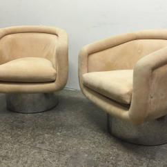 Swivel Chair Leons Purchase Chairs Online Pair Tub With Steel Base By Leon Rosen For