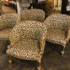 Tiger Print Chair Deck Accessories Pair Of Gilded Leopard Rope And Tassel Chairs At 1stdibs