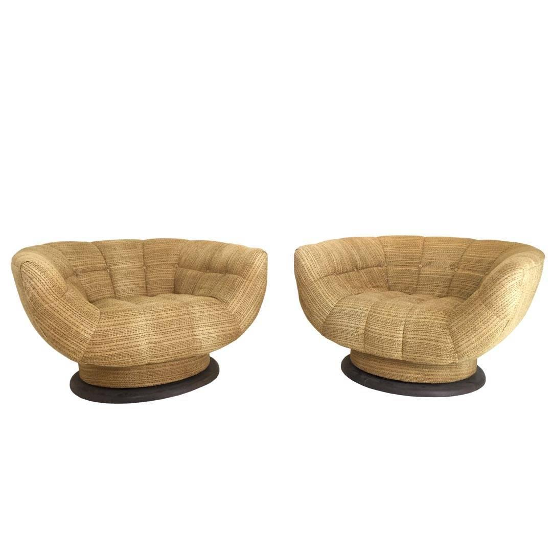 swivel tub chairs living room chair arm covers rare and monumental by adrian pearsall