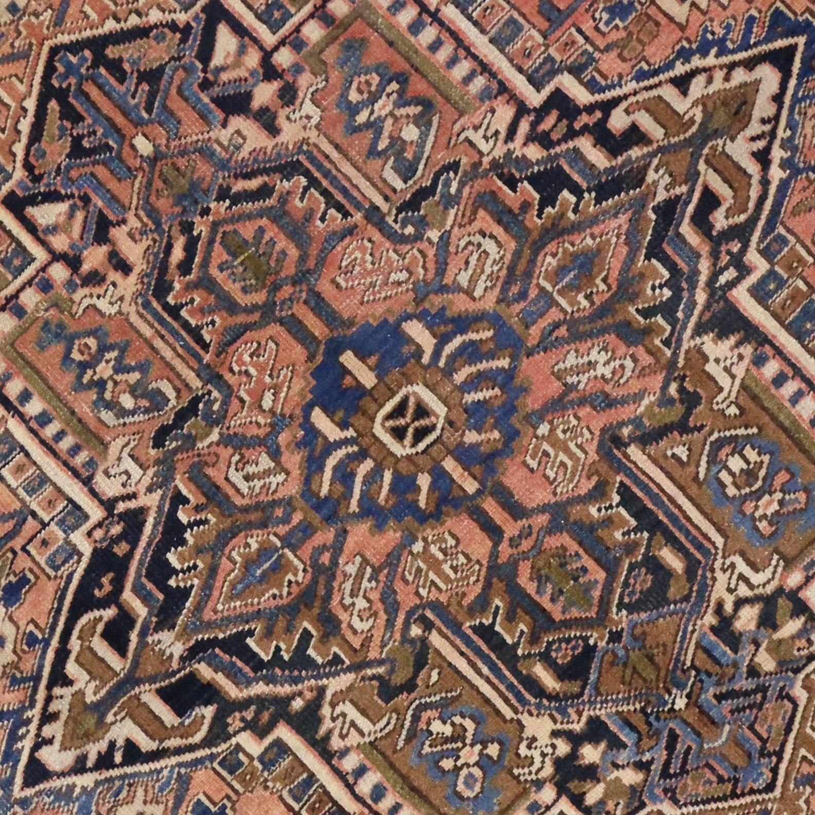 Vintage Persian Heriz Rug Light Colored Persian Rug For