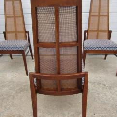 Cane Back Chairs For Sale Brown Leather Chair And Ottoman 5 Walnut Foster Mcdavid Dining Mid